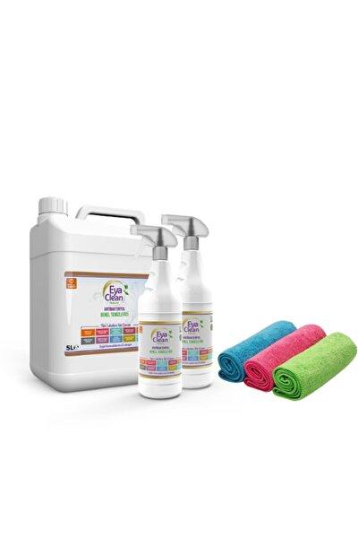 5 litre Bidon 2 Adet 1 litre EYA CLEAN Antibakteriyel Genel Temizleyici 3 Bez