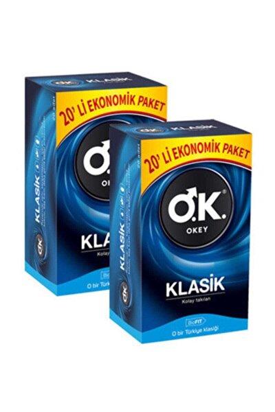 Prezervatif Klasik 20 Li Paket x 2 Adet