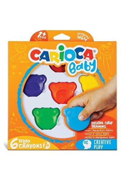 Baby Teddy Crayons 6'lı