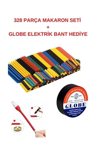 Isı Shrink Boru Daralan Makaron Kablo Yalıtım Set-328 Adet