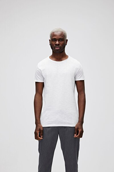 Erkek Beyaz O-neck Tişört 18.01.07.011-c04