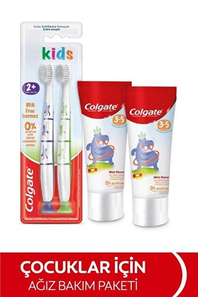 3-5 Yaş Florürsüz Çocuk Diş Macunu 60 Ml, 2+yaş Ekstra Yumuşak Çocuk Diş Fırçası 1+1