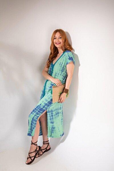 Kadın Misty Yeşil Batik Uzun Elbise