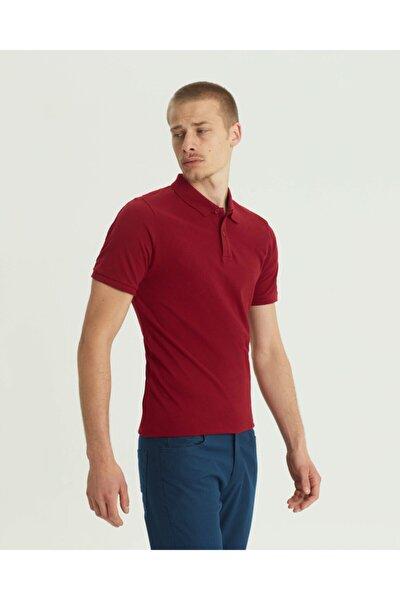 Erkek Bordo Slim Fit Polo Yaka T-shirt