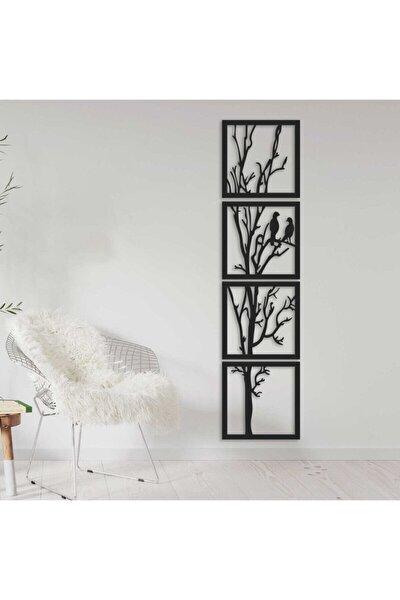 Ağaç ve Kuş Figürlü Dekoratif Süs Ebat 30 x 123