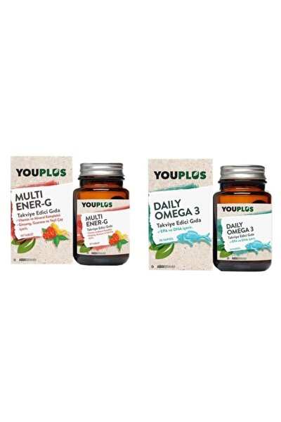 Multi Ener-g Multivitamin 30 Tablet + Daily Omega 3 30 Kapsül