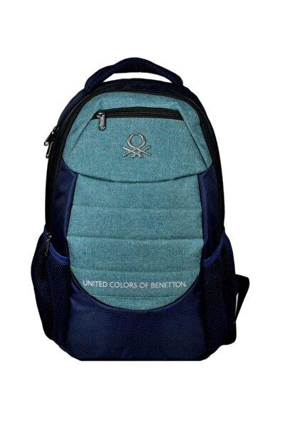 United Color Of Benetton Lacivert/Yeşil Üç Bölmeli Sırt/Okul Çanta - Hakan 96049