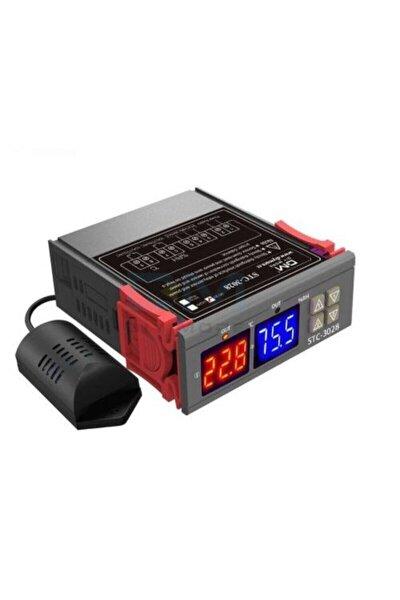 Stc-3028 Dijital Sıcaklık Ve Nem Kontrol Cihazı Ac 220v Termostat Kuluçka Vb. Için
