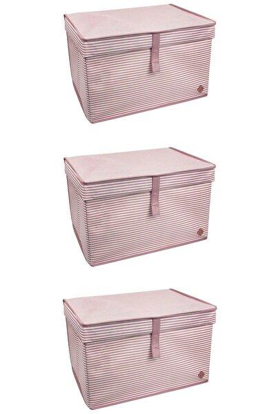 3'lü Maxi Çok Amaçlı Kutu (PEMBE)