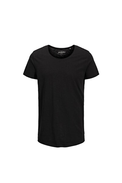 JJEBAS TEE SS U-NECK NOOS Siyah Erkek T-Shirt 101069447