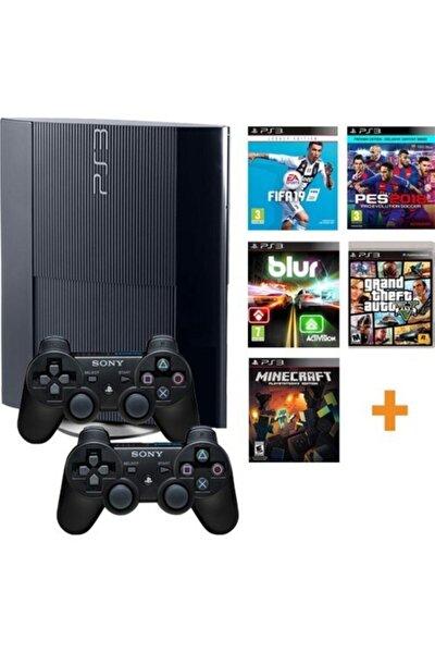Ps3 Sony 500 Gb Konsol+200 Oyun+2 Sıfır Kol|teşhir|