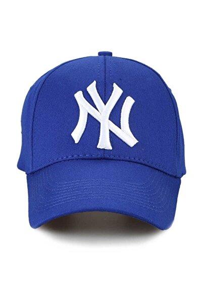 Ny New York Şapka Unisex Saks Mavi Şapka