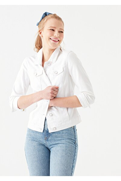 Daisy Beyaz Gold Jean Ceket 1113629204