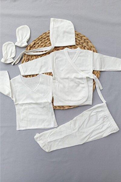 Unisex Bebek Bej Boyasız Yeni Doğan Bebek Acil Ihtiyac Seti