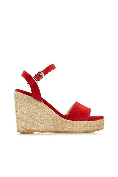 Kadın Kırmızı Bantlı Sandalet