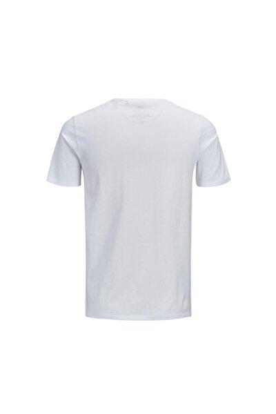 JJECORP LOGO TEE SS CREW Beyaz Erkek T-Shirt 101069452