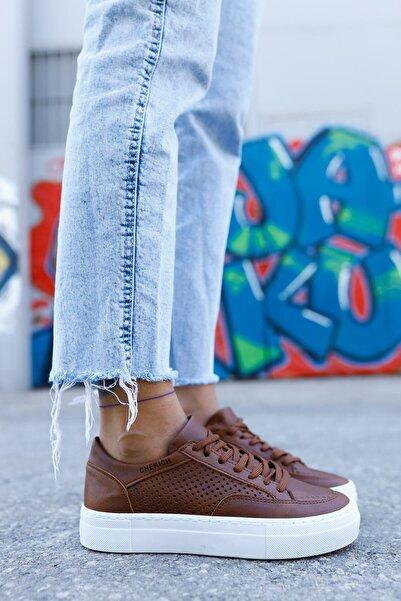 Ch015 Kadın Ayakkabı Taba