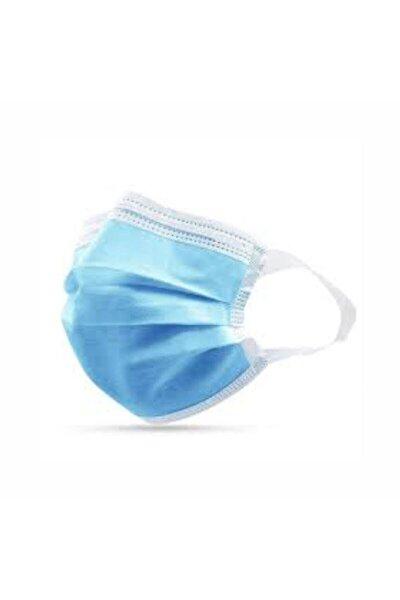 Yumuşak Elastik Kulaklı Yeni Nesil Maske 50 Adet Mavi