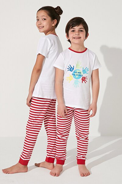 Çok Renkli Unisex Together Ss 2li Pijama Takımı