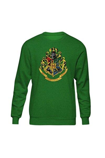 Erkek Yeşil Harry Potter Hogwarts II Sweatshirt