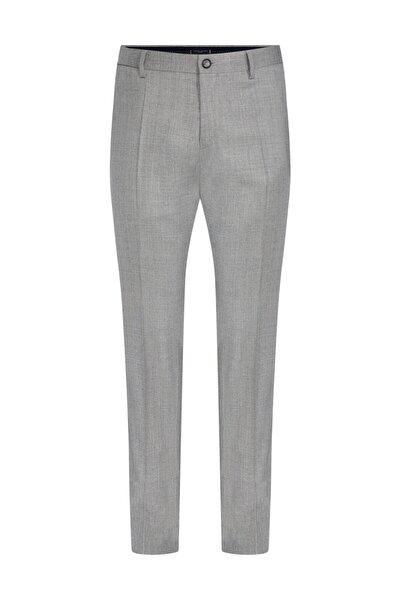 Erkek Gri Pantolon Wool Blend Solid Slim Fit Pants TT0TT06280