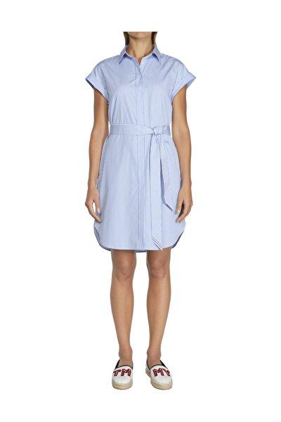 Kadın Mavi Elbise Th Essential Shirt Dress Ss WW0WW25620