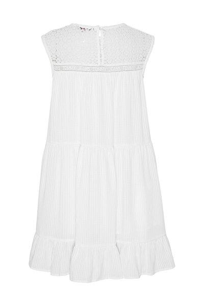 Kadın Beyaz Elbise Tjw Summer Sleeveless Lace Dress DW0DW06660