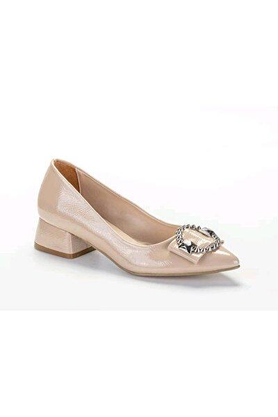 Kadın Nude Kırışık Günlük Rahat Şık Ayakkabı