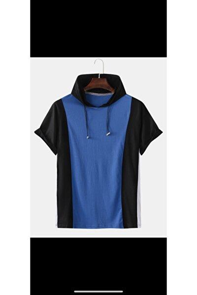 Unisex Pamuklu Rahat Kalıp Bisiklet Yaka Astronot Baskılı Kısa Kollu T-shirt - Da-21yts0001