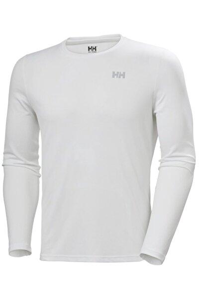 Erkek Beyaz Lifa Active Solen  Likra Spor T-Shirt