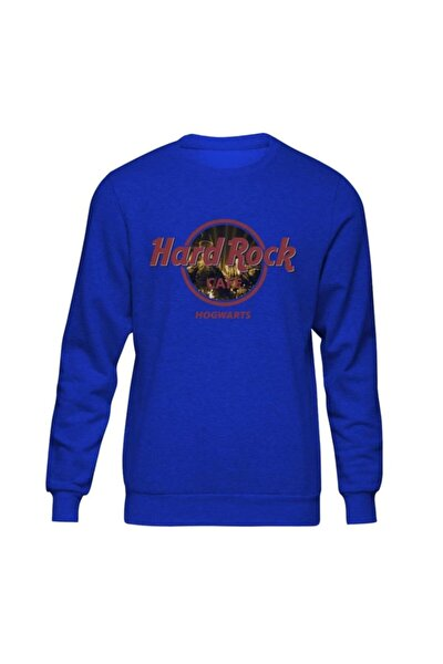Harry Potter Hard Rock Hogwarts Mavi Sweatshirt