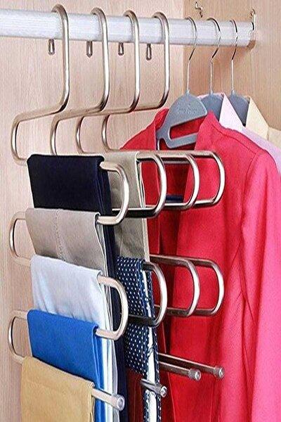 Metal Pantolon Eşarp Askısı 5 Katlı