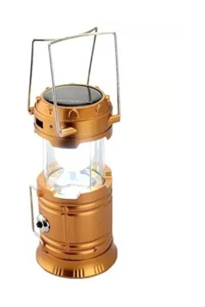 Şarjlı Güneş Enerjili Kızaklı Kamp Feneri Led Lamba Işıldak 4.1