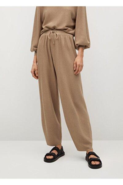 Kadın Beli Elastik Pamuklu Pantolon