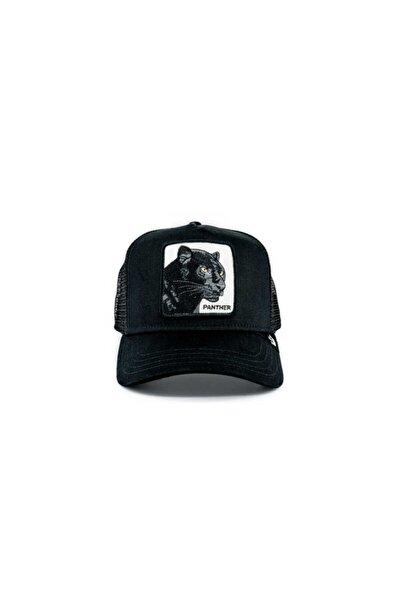 Unisex Siyah Baskılı Şapka