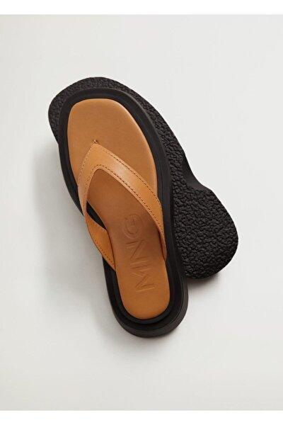 Kadın Platformlu Deri Sandalet