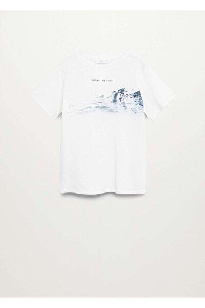 Pamuk Karışımlı Desenli  T-Shirt
