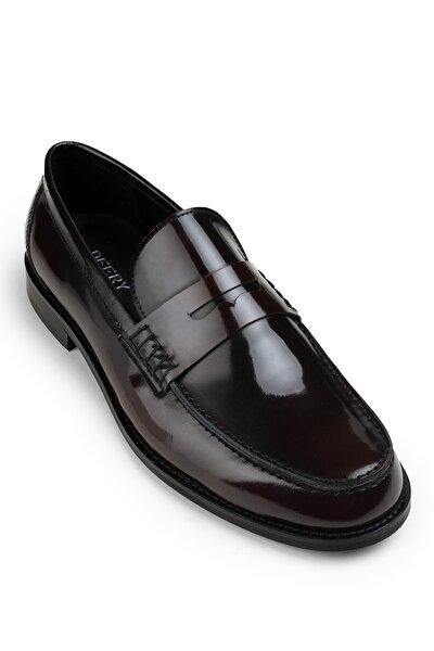 Hakiki Deri Bordo Mokasen Erkek Loafer 01538MBRDM01