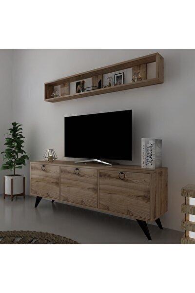 Kulplu Dolaplı Modern Tv Sehpası Q3029-3