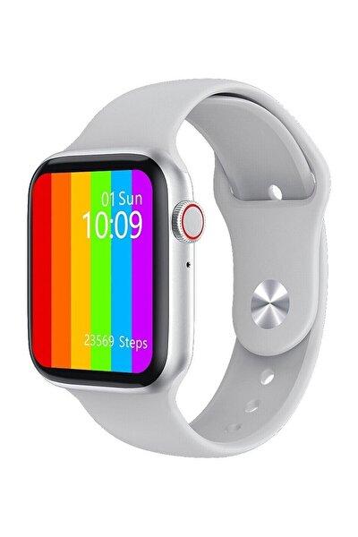 W26+ Watch 6 Plus Yeni Nesil Beyaz Türkçe Akıllı Saat Son Sürüm Yan Tuş Aktif