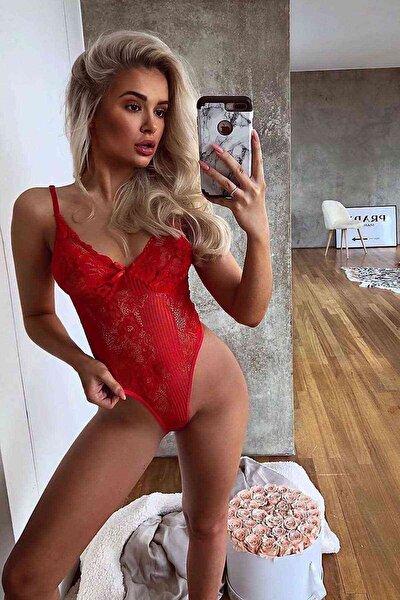 Sexy Iç Giyim Babydoll Kırmızı