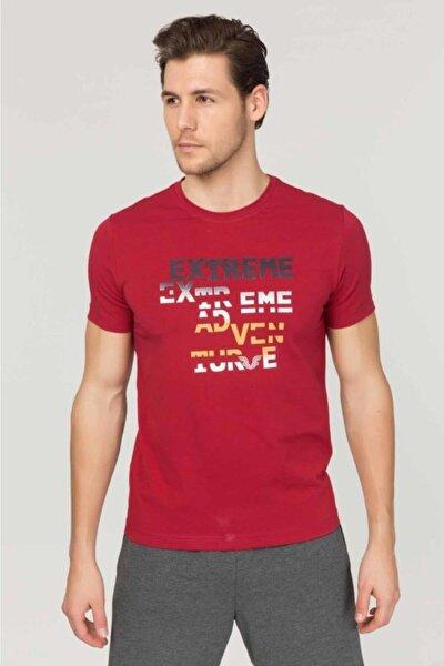 Bordo Pamuklu Erkek T-Shirt FS-1674
