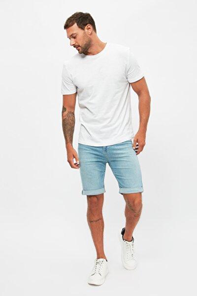 Açık Mavi Erkek Skinny Fit Şort & Bermuda TMNSS21SR0486