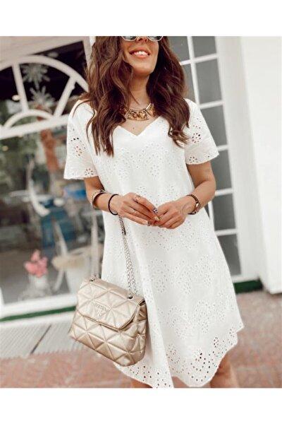 Kadın Beyaz Fisto Elbise