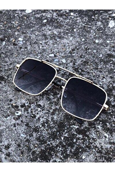 Unisex Gümüş Siyah Güneş Gözlüğü
