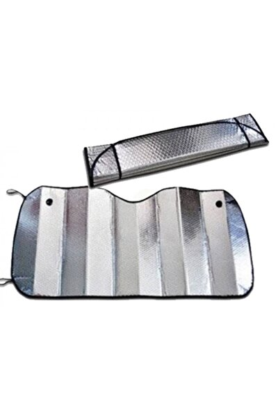 Katlanabilir Parlak Araba Ön Cam Güneşlik 130 Cm X 60 Cm