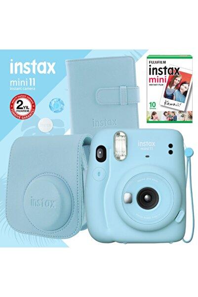 Instax Mini 11 Mavi Fotoğraf Makinesi Ve Kare Albümlü Hediye Seti 22