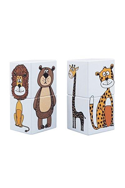 Manyetik Puzzle Hayvanlar (İKİ PARÇALI) -4 Küp