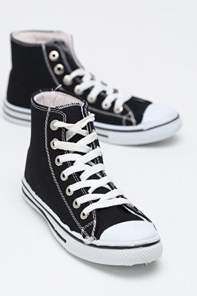 Kadın Siyah  Keten Uzun  Ayakkabı