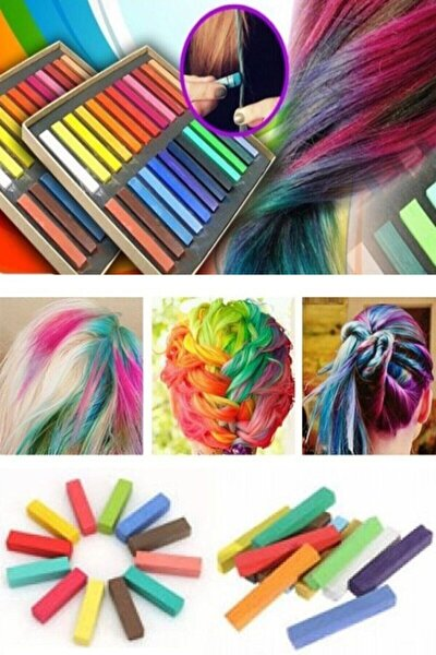 Saç Tebeşiri Seti 24 Renk